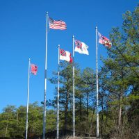 Flags on Stone Mountain