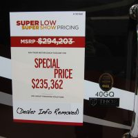 RV Show Pricing