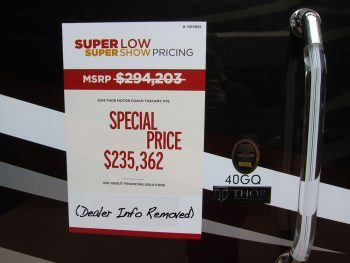 "The Truth About ""RV Show Special"" Pricing"