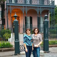 Kathy & Heather in the Garden District