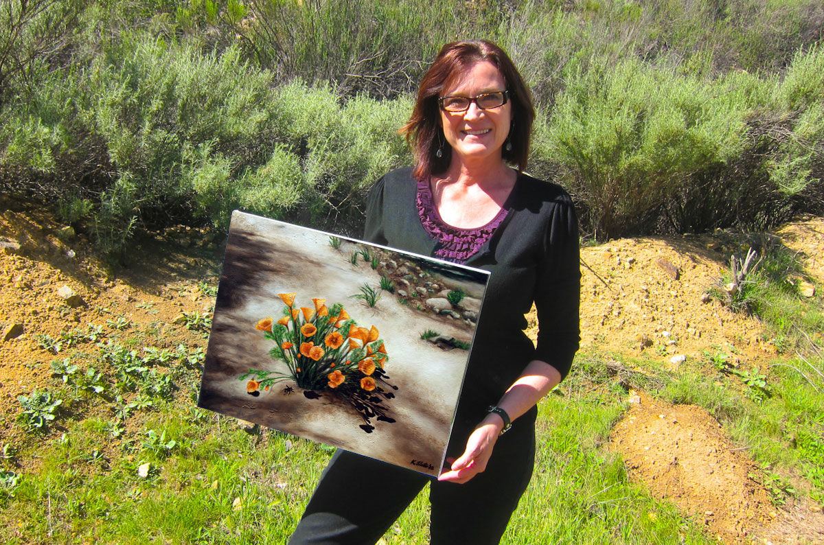Kathy with Painting