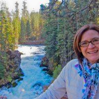 Kathy with Benham Falls