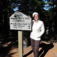 Kathy at Paulina Falls Trailhead