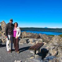 Rich & Kathy with Paulina Lake