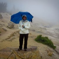 Kathy in Bumpass Hell