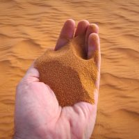 The sand is this red!