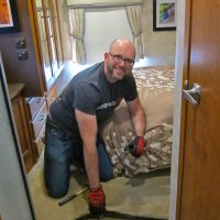 Rich Pulling Up the Old Carpet