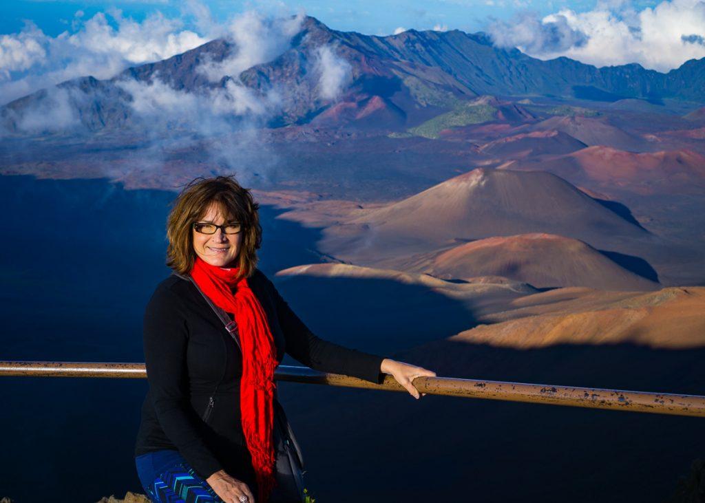 Kathy on Haleakalā