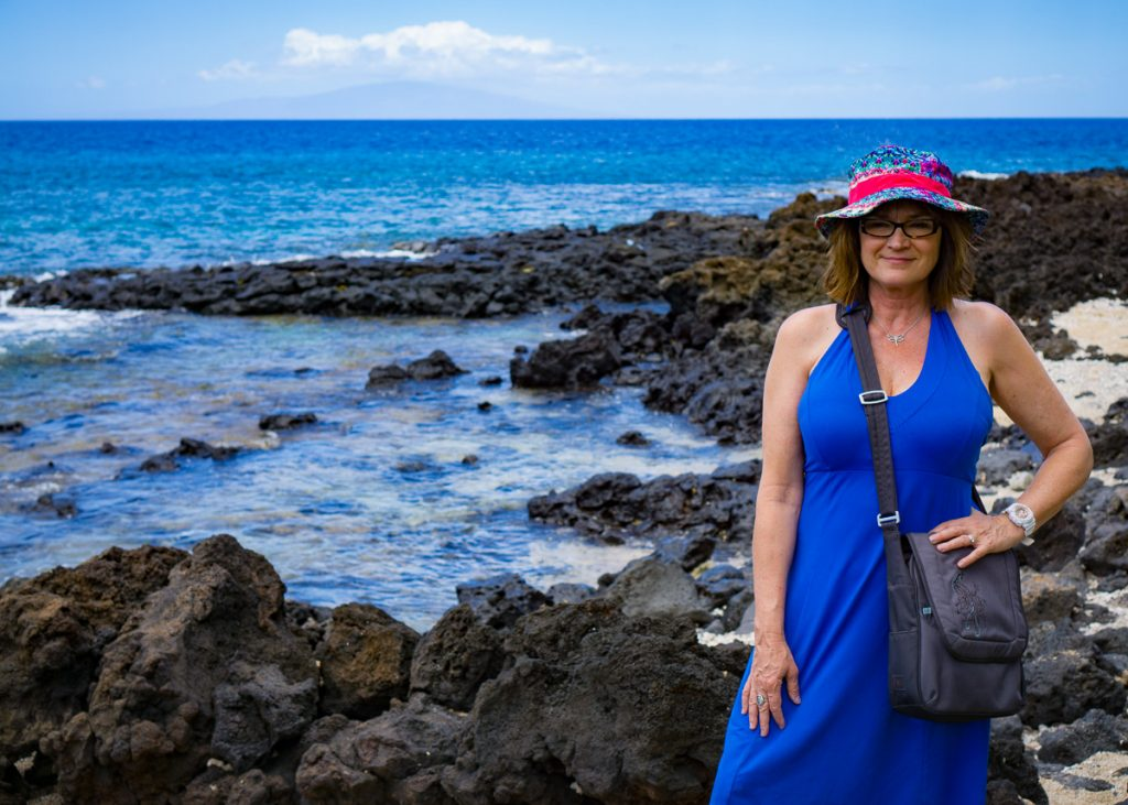 Kathy in the Lava Fields