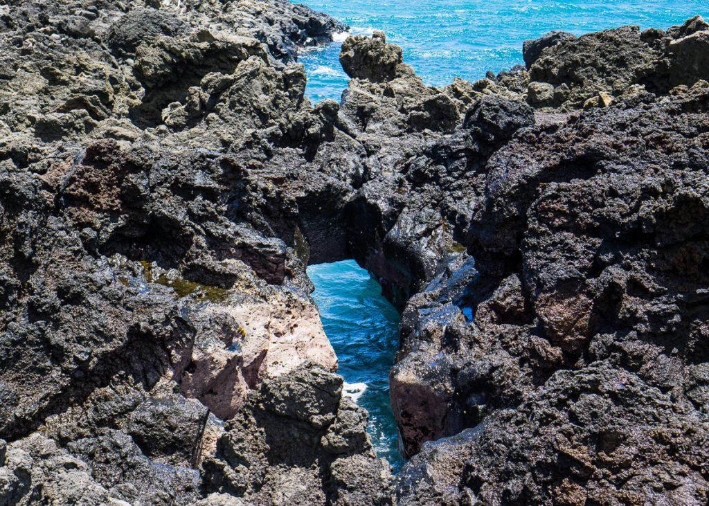 A blowhole in the Lava