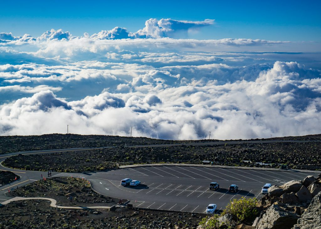 Parking Lot Above the Clouds on Haleakala