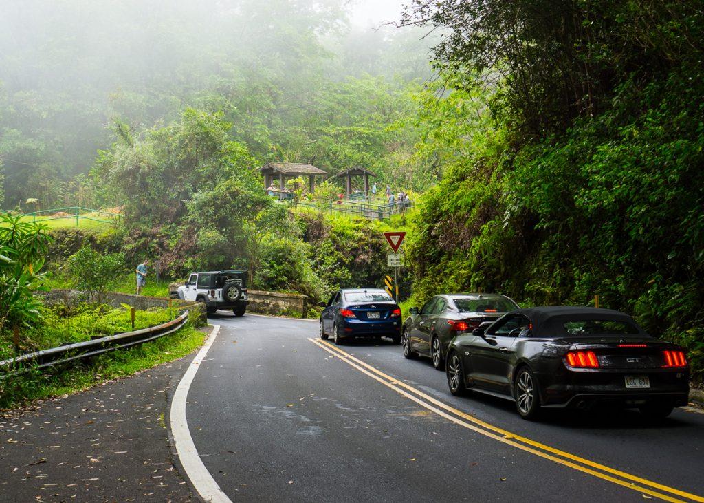 The road to Hana has many stops