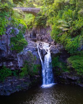 Waterfall at 7 Sacred Pools
