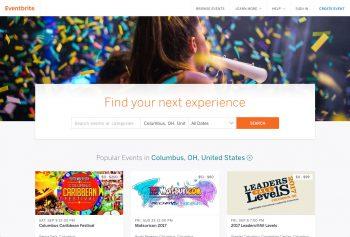 Eventbrite Website